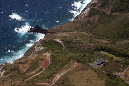 vue aérienne et océan - Clifftop House Maui par Dekleva Gregoric Arhitekti - Maui, Hawaï