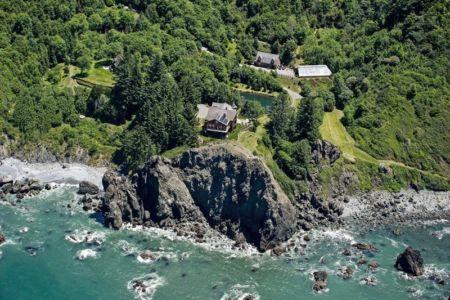 vue aérienne - gold-beach - Oregon, USA