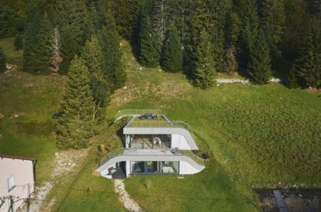 vue aérienne paysage - House-Hillside par JDS Architects - France