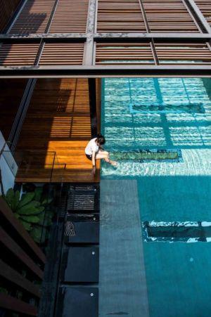 vue aérienne piscine - Joly House par StuDO Architectes - Bangkok, Thaïlande