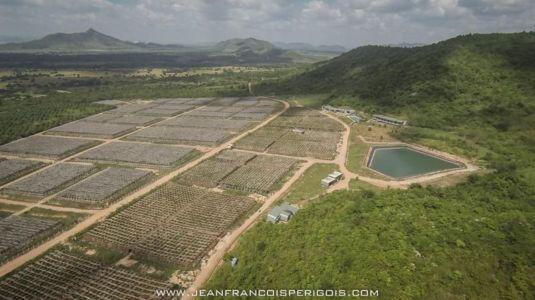 vue aérienne site - La-Plantation par Acyc Sarl - Kampot, Cambodge