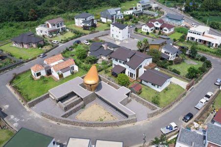 vue aérienne site - Wind-House par Moonbalsso - Jesu Island, Corée du Sud