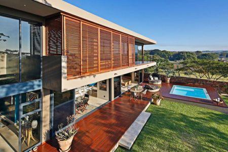vue aérienne terrasse - Aloe Ridge House par Metropole Architects - Kwa Zulu Natal, Afrique du Sud