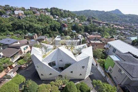 vue aréienne façade - HWA HUN par IROJE KHM Architects - Pyeongchang-dong, Corée du Sud