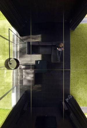 vue aérienne salon - maison exclusive par KWK Promes - Katowice, Pologne