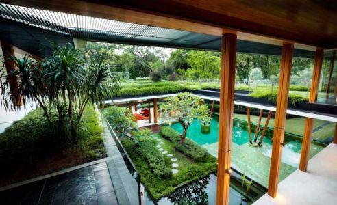 vue balcon - Water Lily House par Guz Architects - Singapour