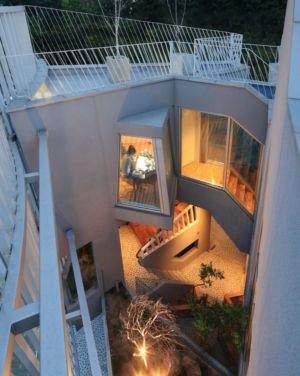 vue balcon étage - Kyeong Dok Jai par Uroje Khm Architects - Corée du Sud