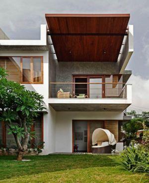 vue balcon étage - L-Plan-House Klosla Associates - Bangalore, Inde