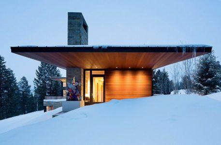 vue côté - Butte Residence par Carney Logan Burke Architects - Jackson, Usa
