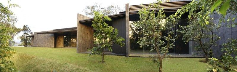 vue côté - Casa Altamira par Joan Puigcorbé - Costa Rica