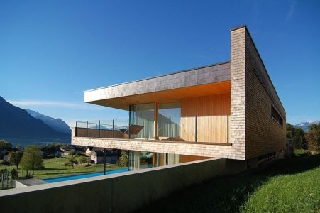 vue côté - Schaan Residence par K_M Architektur - Liechtenstein