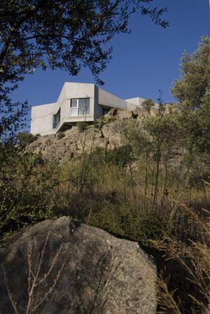vue contrebas - maisons contemporaines par Bona-Lemercier - Monticello, France