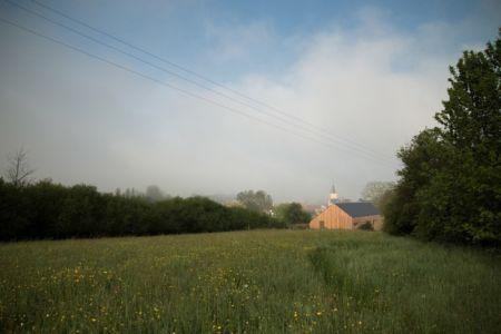 vue de la prairie - Maison Simon par Bonnefous architectes - Vezet (70), France
