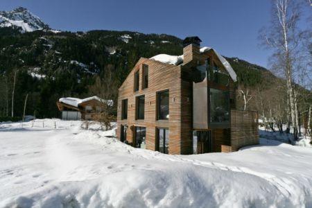 vue d'ensemble - Chalet Piolet par Chevallier Architectes - Chamonix, France