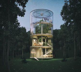 vue d'ensemble - Glass-House par Aibek-Almassov - Kazakhstan