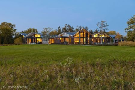 vue d'ensemble - Illinois residence par Dirk Denison architects - Usa