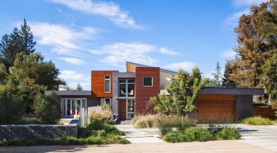 vue d'ensemble entrée - Los-Altos-House Dotter Solfjeld Architecture - Los Atlos, USA