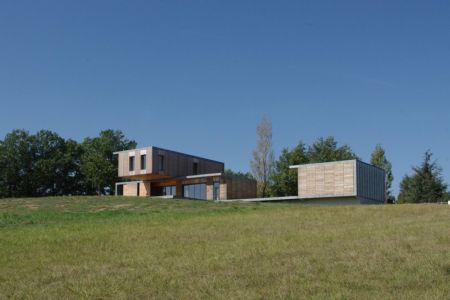 vue d'ensemble - Maison l'Estelle par François Primault architecte - Moirax, France