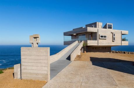 vue d'ensemble - Mirador House par Gubbins Arquitectos - Tunquen, Chili