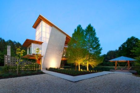 vue d'ensemble - Pond-House par Holly-Smith-&-Architectes - Louisiane, USA