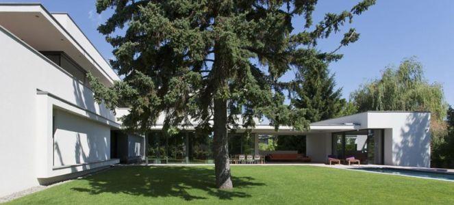 vue d'ensemble - Reviving Mies par Architéma - Buda Hills, Hongrie