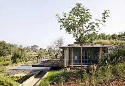 vue d'ensemble - Riparian-House - Architecture Brio - Karjat, Inde
