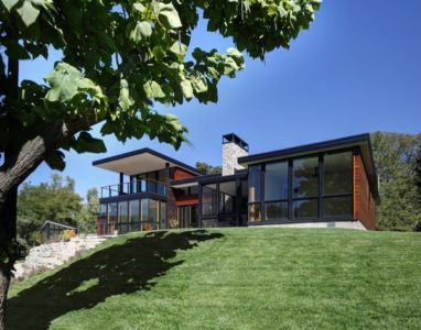 vue d'ensemble - Rock River House par Bruns Architecture - Rockton, Usa