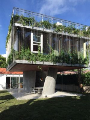 vue d'ensemble - Sun Path House par Studio Christian Wassmann - Miami, USA