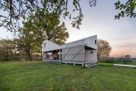 vue d'ensemble - Wooden-House par ASGK design - Lodin, République Tchèque