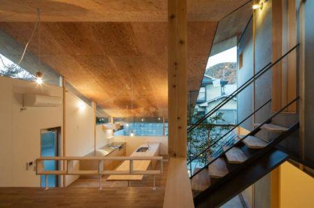 vue d'ensemble cuisine - Eaves-House par Y Plus M Design - Kyoto, Japon