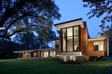vue d'ensemble de nuit - Bray's Island SC Modern II par SBCH Architects - Sheldon, Usa