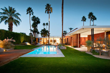 vue d'ensemble de nuit - F-5 Residence par Studio AR+D Architects - Indian Wells, Usa