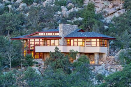 vue d'ensemble de nuit - Hinshaw par Michael Rust – Architect LLC - Prescott, Usa