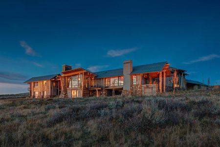 vue d'ensemble de nuit - Wolf Creek Ranch par S+D Architects - Utah, Usa