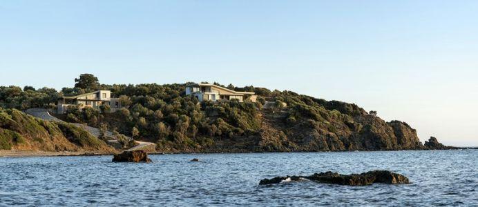 vue d'ensemble depuis mer - Notre Ntam' Lesvos Residences par Z-level à Agios - Fokas, Grèce