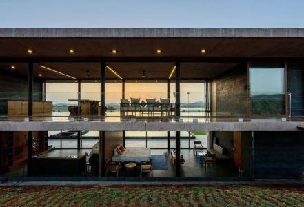 vue d'ensemble différentes pièces - Panorama House par Ajay Sonar - Maharashtra, Inde