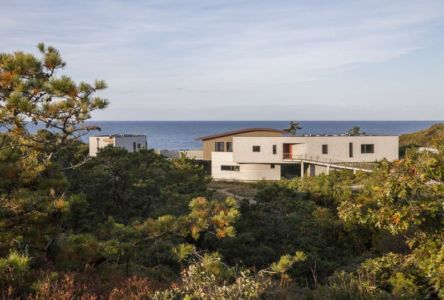 vue d'ensemble et panorama - House of Shifting Sands par Ruhl Walker Architects - Wellfleet, Usa