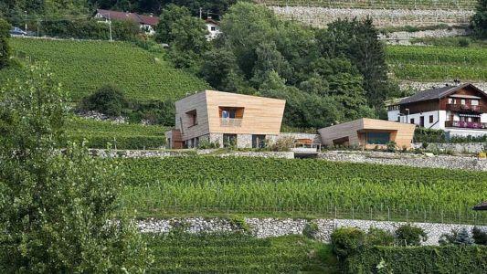 vue d'ensemble extérieure - Brunner House par Norbert Dalsass - Italie