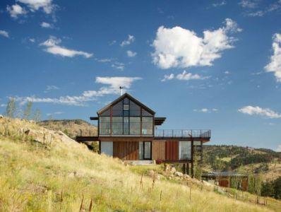 vue d'ensemble extérieure - Sunshine Canyon House par Renée del Gaudio Architecture - Boulder, Usa