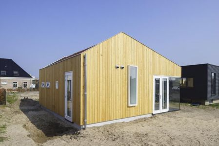 vue d'ensemble & grande cour - Biobased-Living-Concept par DDacha - Pays-Bas