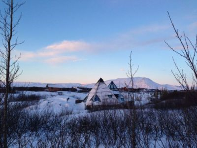 vue d'ensemble hiver - Vacation-home par Stunning Pyramid - Thingvellir, Islande