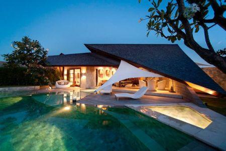 vue d'ensemble illuminée - Villas-Spa par Layar Designer - Bali, Indonesie