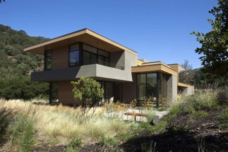 vue d'ensemble jour - sinbad-creek par Swatt Miers Architects - Sunol, USA