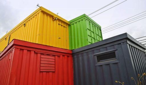 vue d'ensemble - maison-container par Vedat Ulgen & Deger Cengiz - New York, USA
