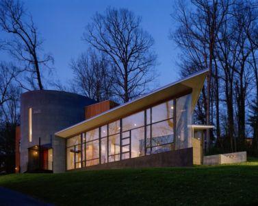 vue d'ensemble nuit - Hargrave-Residence par Robert M. Gurney Architect - Maryland, Etats-Unis