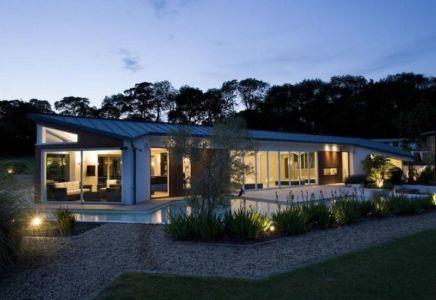 vue d'ensemble nuit - Lofties par Rayner Davies Architects - Lindrick Common, Angleterre