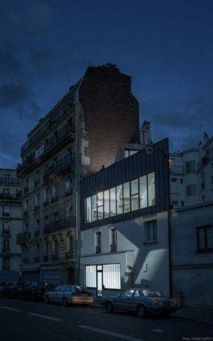 vue d'ensemble nuit - Saganaki House par BUMParchitectes, France
