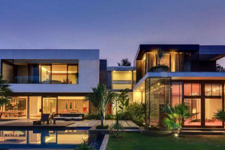 vue d'ensemble nuit - home-pool par DADA-&-Partners - New Delhi, Inde