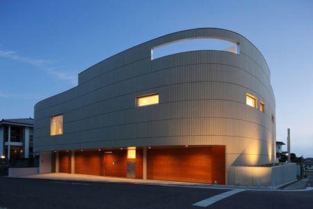 vue d'ensemble nuit - YAM  par ks-architects - Nagoya, Japon