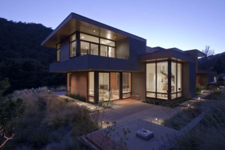 vue d'ensemble nuit - sinbad-creek par Swatt Miers Architects - Sunol, USA